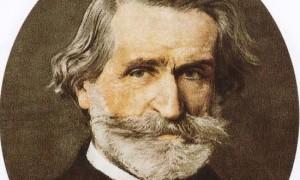 Italian composer Giuseppe Verdi portrait